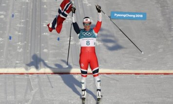 Phjončhanas spēļu sacensības noslēdzas ar Bjergenas astoto olimpisko zelta medaļu