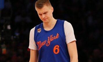 Porziņģim deviņi punkti; 'Knicks' kapitulē 'Pelicans'