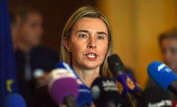 Mogerīni: ES bezvīzu režīms ar Turciju tiks noslēgts, ja tiks izpildīti kritēriji