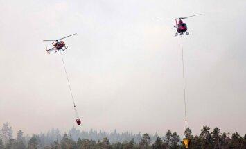 Zviedrijas mežus turpina postīt 42 ugunsgrēki