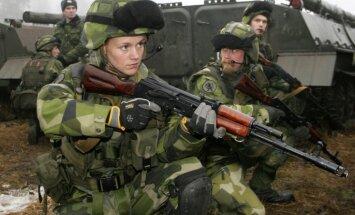 Zviedrija 2019. gadā varētu atgriezties pie obligātā karadienesta
