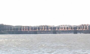 Video: ASV uzspridzina bīstamu tiltu