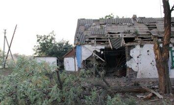 Foto: Stepanovka – no Krievijas izšautu 'Grad' raķešu 'lietus' iznīcināts ciemats