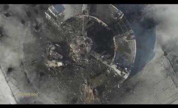 Video: Kā izskatās sagrautā Doņeckas lidosta no putna lidojuma