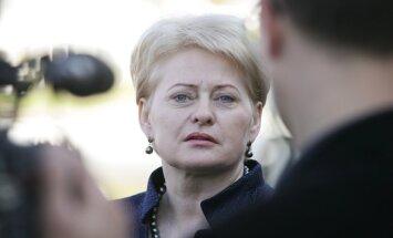 Grībauskaite: Ja informācija par slepenajiem CIP cietumiem apstiprināsies, Lietuvai būs jāuzņemas pienācīga atbildība
