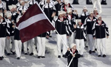 Uz Soču olimpiskajām spēlēm deleģēti 58 Latvijas sportisti