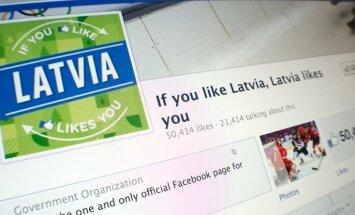 Latvijas fanu skaits 'Facebook' sasniedzis 50 tūkstošus