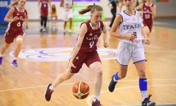Latvijas U-20 basketbolistes Eiropas čempionāta mačā piekāpjas Itālijai