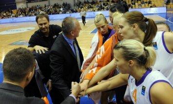 'TTT Rīga' basketbolistēm pārliecinoša uzvara pret savu junioru komandu
