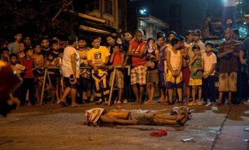 Filipīnu karā pret narkotikām pieredzēta līdz šim asiņainākā nakts