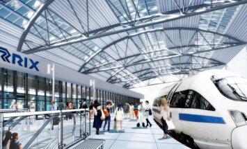 """ФОТО: какой будет станция Rail Baltica в международном аэропорту """"Рига"""""""