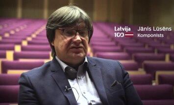 Latvijas komponisti Latvijas simtgadei. Jānis Lūsēns par mūziku, kas uzrunā personīgi