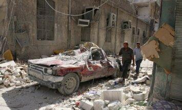 Uzlidojumu pauze Alepo tiek ievērota jau otro dienu