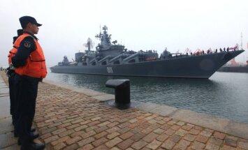Sākušās pirmās kopīgās Ķīnas un Krievijas jūrasspēku mācības