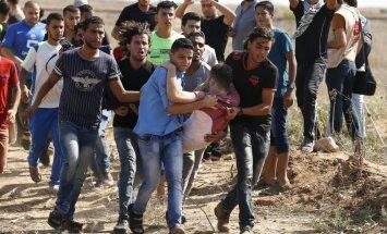 Izraēlas karavīru un palestīniešu sadursmē pie Gazas robežas četri bojāgājušie