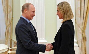ES nevēlas konfrontēt ar Maskavu, uzsver Mogerīni