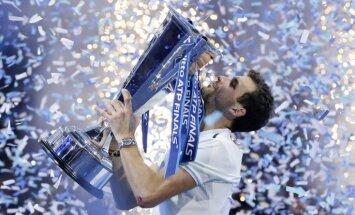 Bulgāru tenisists Dimitrovs pirmo reizi karjerā triumfē ATP sezonas noslēguma turnīrā