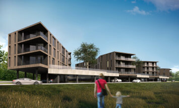 ФОТО: Эстонская компания построит девять многоквартирных домов в Межапарке