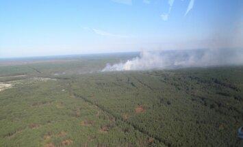 Černobiļas AES piesārņojuma zonā izcēlies ugunsgrēks