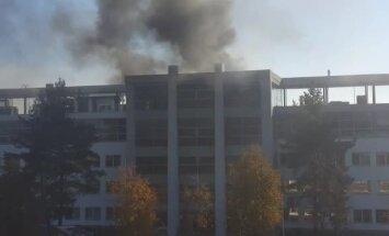 ВИДЕО: Пожар на улице Катлакална - горит офисное здание
