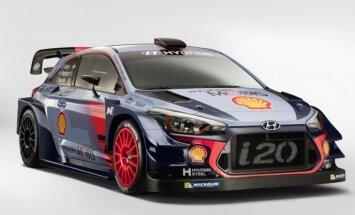 Foto: 'Hyundai' pirmie parāda 2017. gada WRC automašīnu