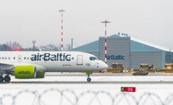 airBaltic совершит на новом самолете CS300 пробный полет в Лиепаю