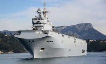 Krievija piedraud ar tiesvedību, ja Francija nepiegādās 'Mistral' kuģi