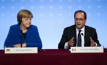 ES nākotne un bēgļu krīze - Francijas un Vācijas līderu vēsturiskā uzruna Strasbūrā (video tiešraide)