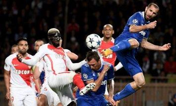 Monaco Tiemoue Bakayoko against Juventus Mario Mandzukic, Giorgio Chiellini