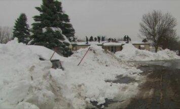 ASV pēc stiprās snigšanas gaidāmi plūdi