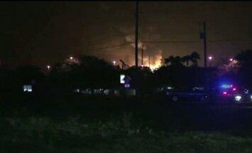 Pēc sprādziena propāna gāzes rūpnīcā ASV pazuduši 15 cilvēki