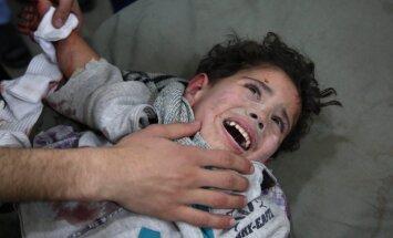 Foto: Bombardēšana Austrumgutā turpinās; piecās dienās nogalināti 403 civiliedzīvotāji