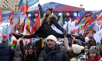 Foto: Dažādu tautu pārstāvji un nacionālisti dodas Krievijas vienotības gājienos