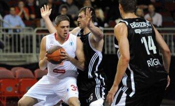 'VEF Rīga' basketbolisti Eiropas kausā zaudē arī savā laukumā