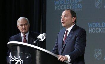 NHL Commissioner Gary Bettman, NHL Player Association Director Donald Fehr