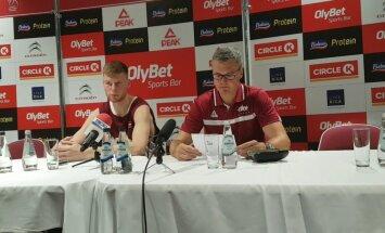 Dāvis Bertāns apmierināts ar Latvijas izlases agresivitāti mačā pret Lietuvu