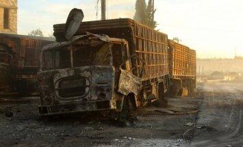Минобороны РФ сообщило о беспилотнике коалиции в районе атаки на гумконвой в Сирии