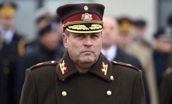 Valsts prezidents piešķir NBS komandierim ģenerālleitnanta pakāpi