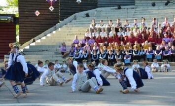 Foto: XI Latvijas skolu un jaunatnes dziesmu un deju svētku ieskandināšanas koncerts Jēkabpilī