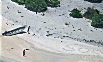 Izglābts pāris, kas vairāk nekā nedēļu pavadījis uz vientuļas salas