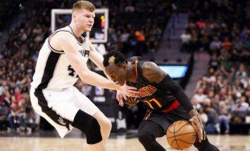 Bertāns ar astoņiem punktiem sekmē 'Spurs' kļūšanu par NBA līderi