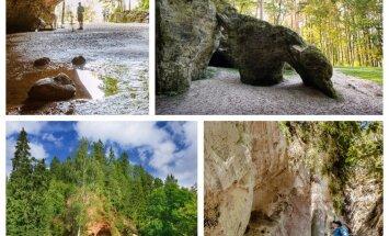 10 iespaidīgas klintis Gaujas nacionālajā parkā, kas jāredz ikkatram