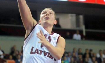 Latvijas basketbola izlase mačā pret Gruziju cenšas izcīnīt ceļazīmi uz EČ finālturnīru