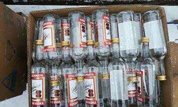 Foto: Daugavpilī likvidē nelikumīgu alkohola glabātuvi