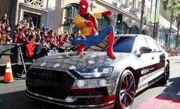 Video: Jaunais 'Audi A8' limuzīns parādīts 'Zirnekļcilvēka' pirmizrādē