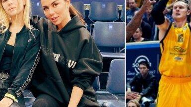 Anna Sedokova kopā ar meitu basketbola spēlē sirsnīgi atbalsta Timmu
