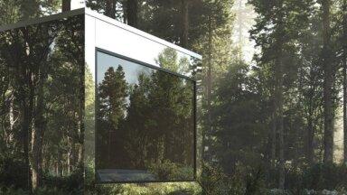 ФОТО. Необычное жилье: зеркальные домики посреди леса