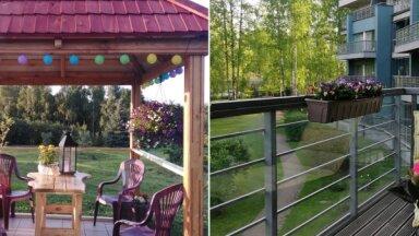 Foto: Lapenes, terases un balkoni, kas cīnās par uzvaru 'Māja&Dārzs' konkursā