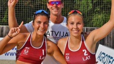 Latvijas sieviešu pludmales volejbola izlase sasniedz Kontinentālā kausa ceturtdaļfinālu