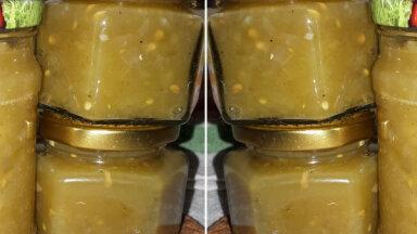 Zaļu tomātu kečups ziemai bez pasterizēšanas